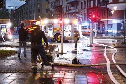 Вибух і пожежа в шведському Гетеборзі