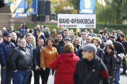 Участники марша славы УПА из Ивано-Франковска