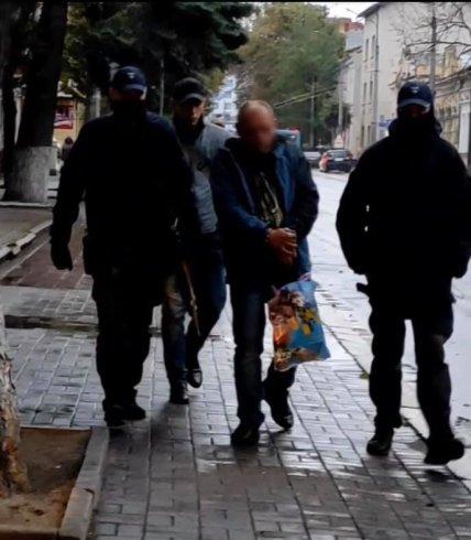 Задержание подозреваемого во Львове