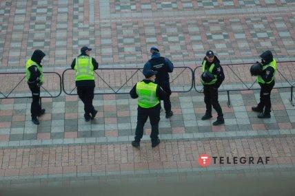 Кордон поліції під Верховною Радою