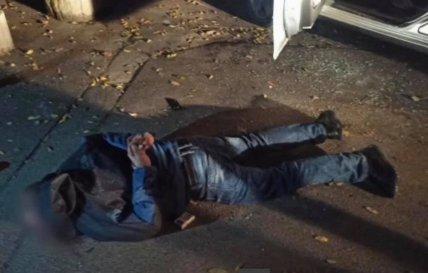 Задержание подозреваемого в нападении на полицейского во Львове
