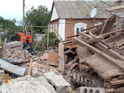 Двухэтажный дом рухнул