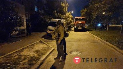 На Оноре де Бальзака в Киеве полиция общается с вероятным подрывником