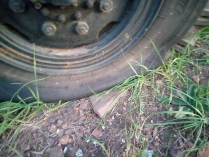 Попадание в колесо