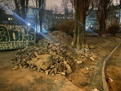 Реконструкция сквера на ул.Гончара, Киев