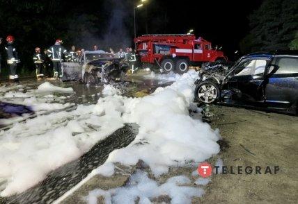 Возгорание авто на Гостомельском шоссе тушили спасатели