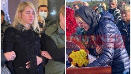 Дружина Галина Полякова та нардеп Ганна Скороход на похоронах
