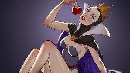Художник превратил анимационных злодеек в настоящих королев соблазна (Фото)