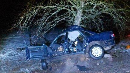 Полиция показала фото смертельной аварии с подростками на Ровенщине