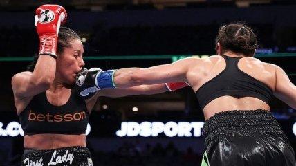 Девушки-боксеры устроили побоище в ринге (видео)