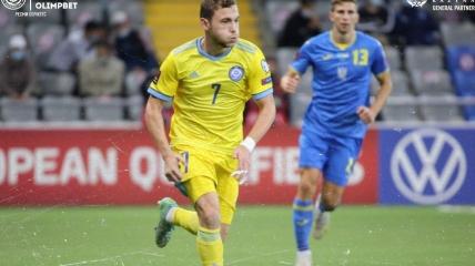 Руслан Валиуллин в матче с Украиной