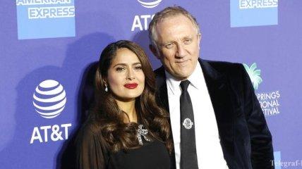 Сальма Хайек поздравила мужа-миллиардера с днем рождения (Фото)