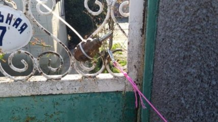 На Одесщине неизвестные прикрепили гранату к воротам жилого дома