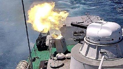 Морские пограничники провели патрулирование и стрельбы (Видео)