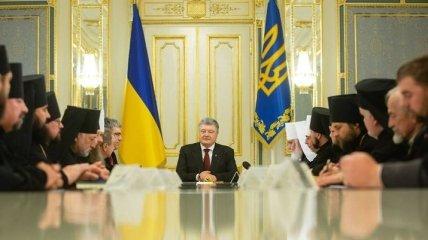 Порошенко сообщил, чем важна единая поместная церковь для Украины