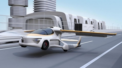 Люди мечтали о летающих автомобилях с давних пор