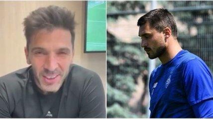 Буффон записал видео для вратаря сборной Украины