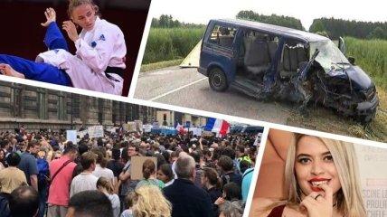 Итоги дня 24 июля: первая медаль Украины на Олимпиаде, ДТП с украинцами в Польше, антикарантинные протесты в мире