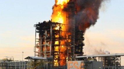 В Италии произошел пожар на нефтеперерабатывающем заводе