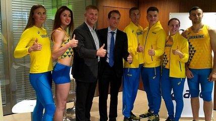 Украинские легкоатлеты презентовали новую форму для международных соревнований