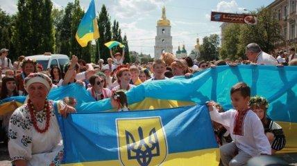 Пять тысяч вышиванок на Мегамарше в Киеве