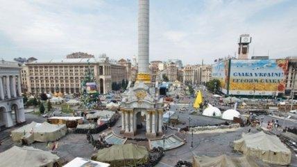 На Майдане новый конфликт и потасовка