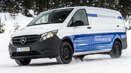 Сколько проедет электромобиль Mercedes-Benz eVito в суровый мороз (Видео)