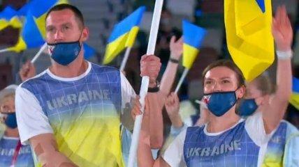 Знаменосцев сборной Украины пристыдили за маски на Олимпиаде в Токио (фото)