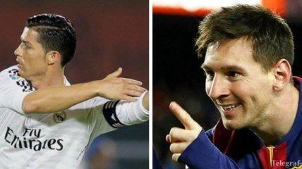 Цена трансфера: Месси - € 220 млн, а Роналду - 133