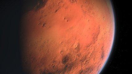 Песчаная буря на Марсе охватила почти всю планету