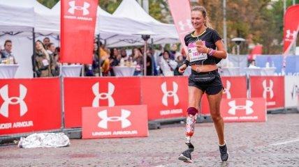 Участница марафона пробежала на протезе всю дистанцию и установила рекорд Украины
