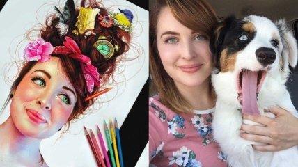 Гиперреалистичные рисунки цветными карандашами (Фото)