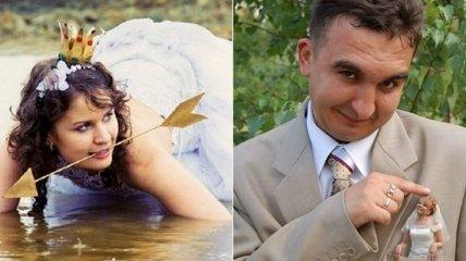 Улыбка до ушей: забавные свадебные снимки, к которым приложили руку мастера фотошопа