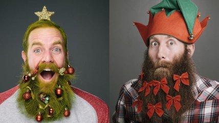 Новогодние украшения для бороды – новый модный тренд для мужчин (Фото)