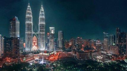 Мировые мегаполисы в ночное время (Фото)