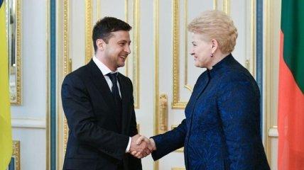 Зеленский отметил вклад Грибаускайте в укреплении партнерства Украины и Литвы