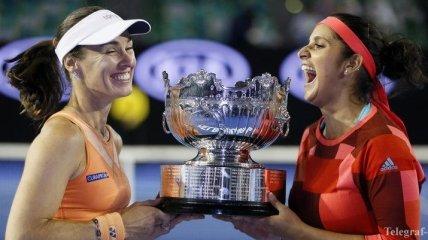 Australian Open. Хингис и Мирза завоевали титул в парном разряде