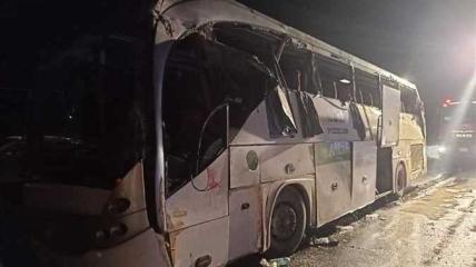 Автобус, попавший в смертельное ДТП