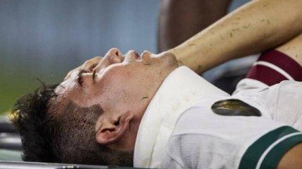 Звёздному футболисту разбили голову в матче сборных (видео)