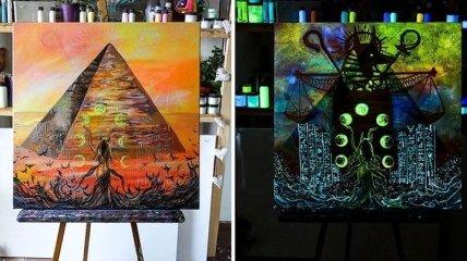 Картины, что светятся в темноте от венгерской художницы (Фото)