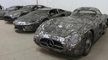 Потрясающие копии автомобили созданные из старых запчастей (Фото)