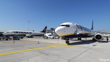 Названа цена билетов на рейсы авиакомпании Ryanair из Украины