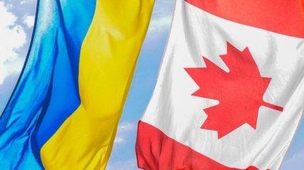 В Канаде еще один крупный город поднял флаг Украины