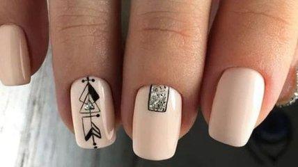 Маникюр 2020: модный нюдовый дизайн ногтей (Фото)
