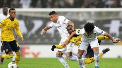 Лига Европы: Арсенал в компенсированное время упустил победу в Португалии