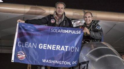 Солнечный самолет успешно приземлился в Вашингтоне