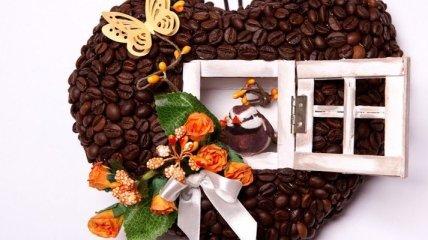 Замечательные поделки из кофейных зерен, от которых невозможно оторвать глаз (Фото)