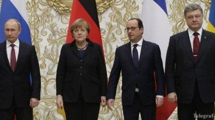 Нормандская четверка примет решение по реализации Минского процесса