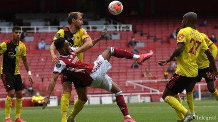 Гол ударом через себя от Обамеянга - в обзоре матча Арсенал - Уотфорд (Видео)