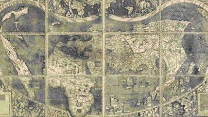 Обнаружена ранее неизвестная карта мира